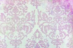 Damask print pattern. A close up of an old damask pattern printed on paper Stock Image
