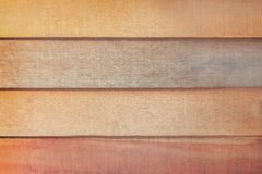 Old dark and light blank brown plank wall in horizontal patterns for background. Close up Old dark and light blank brown plank wall in horizontal patterns for stock photo