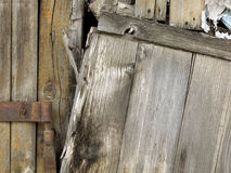 Close-up of old  decayed brown wooden fence Royalty Free Stock Images