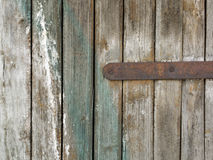Close-up of old  decayed brown wooden fence Stock Photo