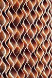 Close up of old dirty brown cellulose paper pad or evaporative c. Ooling pad texture background. Evaporative cooling pad is material of evaporator system stock images