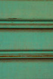 Close up of old and dirty corrugated of mint metal sheet slide d Royalty Free Stock Image