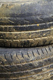 Close up old and dirty tire Stock Photos