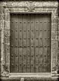 Close-up of old doors Cartagena, Colombia Royalty Free Stock Photography