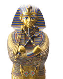 Close up Old Egyptian pharaoh Statue. Isolated on white Royalty Free Stock Photo