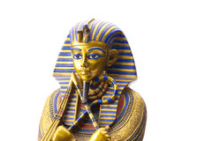 Close up Old Egyptian pharaoh Statue. Isolated on white Stock Images