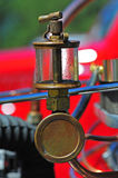 Close up of an old engine oil trap royalty free stock photo