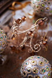 Close up of an old fashion christmas ornament Stock Photo