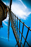 Close-up of a old fashioned windmill Royalty Free Stock Photography