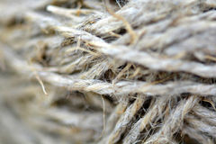 Close-up of an old frayed boat rope Stock Image