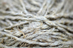 Close-up of an old frayed boat rope as a nautical background Royalty Free Stock Photo