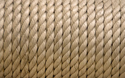 Close-up of an old frayed boat rope Royalty Free Stock Image
