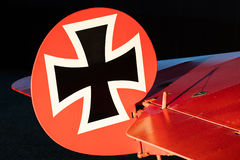 Close-up of an old german triplane Royalty Free Stock Photos