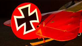 Close-up of an old german triplane Royalty Free Stock Photography