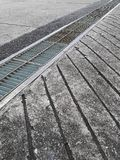 Close up of old grate on the floor. For design In the media stock photography