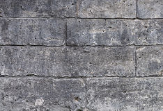 Close up of old gray limestone blocks Stock Photo