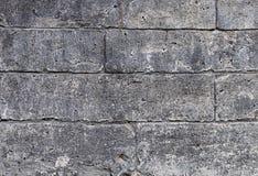 Close up of old gray limestone blocks Stock Photo