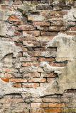 Close up of an old grunge brick wall Stock Image