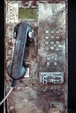 Old Grungy Public Payphone. Close up Old Grungy Public Payphone stock photos