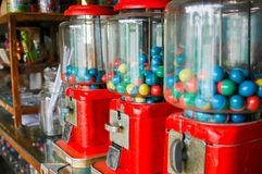 Close up of old gumball machine , thailand. Close up of old gumball machine royalty free stock image