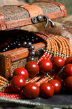 Close-up Old Jewelery Chest With Necklaces Stock Images