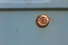 Close up of old keyhole Stock Photo