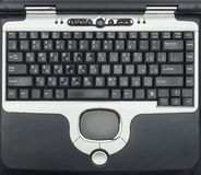 Close-up of old laptop keyboard Royalty Free Stock Photo