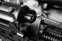 Close up old machine gun.  Royalty Free Stock Photos