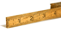 Close Up on an Old Measuring Tape / Ruler. Close up shot on a vintage measuring tape / ruler Stock Photo