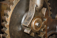 Close up of old metal gears. See my other works in portfolio royalty free stock photos