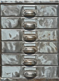 Close-up of old metal locker Royalty Free Stock Photos