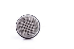 Close up old microphone isolated on white. Background Royalty Free Stock Images