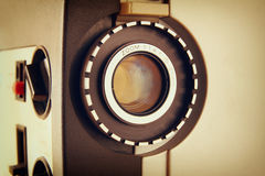 Close up of old 8mm Film Projector lens Stock Photo