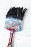 Close up of old paint brushes Royalty Free Stock Photos