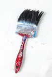 Close up of old paint brushes Stock Photos