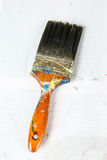 Close up of old paint brushes Royalty Free Stock Photography