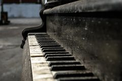 Close up of old piano Stock Photos