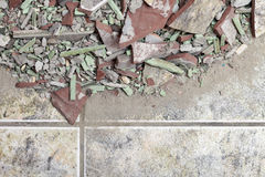 Close up of an old pile of bricks floor tile Stock Photography