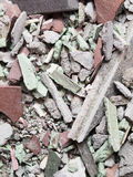 Close up of an old pile of bricks floor tile Royalty Free Stock Image
