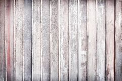 Old  plank wood wall vertical shaped patterns for texture or background. Close up Old  plank wood wall vertical shaped patterns for texture or background stock images