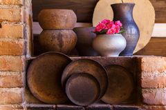 Close up of old pots and pans Stock Photography
