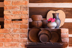 Close up of old pots and pans Stock Images