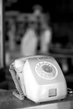 Close up of old public phone Royalty Free Stock Images