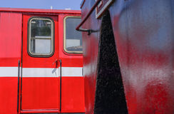 Close-up of old railroad cars Stock Images