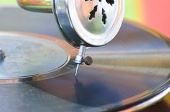 Close up of old record needle Royalty Free Stock Photo