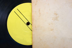 Close up of old record and records stack Royalty Free Stock Photos