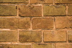 Close up of old red brick wall. It can be used as a background Stock Images