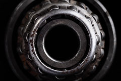 Close-up of the old roller bearing Royalty Free Stock Photography