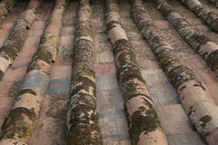 Close up of old roof tiles Royalty Free Stock Photography