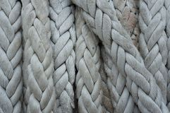 Close-up of old rope , boat rope texture stock images